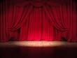 Show Bühne Rote Vorhänge Spot