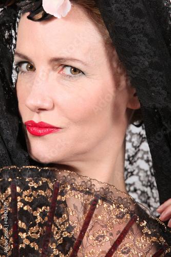 woman in a fancy costume
