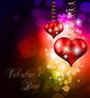 Valentine's Day party invitation flyer background