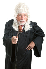 British Judge with Wig - Angry