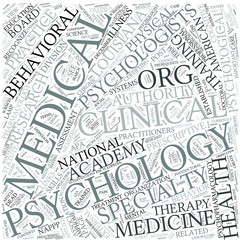 Medical psychology Disciplines Concept