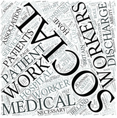 Medical social work Disciplines Concept