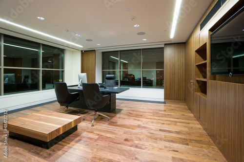 Modern office interior of the chief