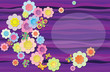 Vector composition. Fabric flowers