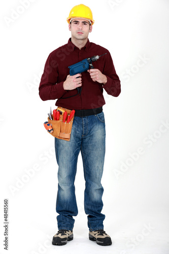Man holding power-drill