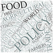 Agricultural policy Disciplines Concept