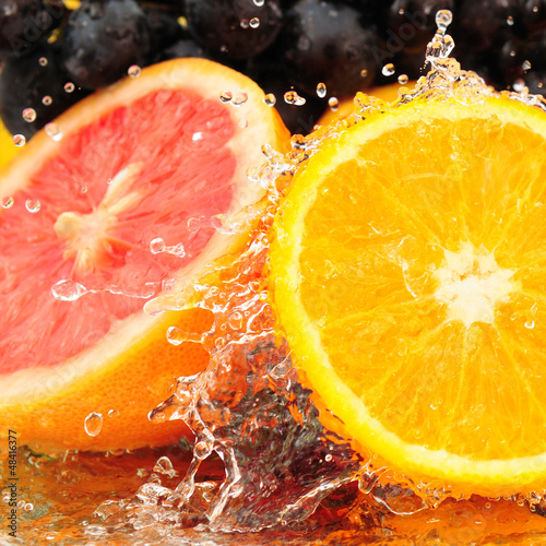 Poster Pure fruit in water