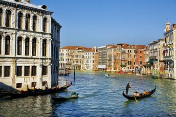 Venice - Gondolas in Grand Canal