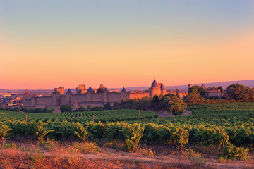 Carcassonne at Sunrise
