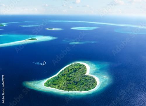 Fototapeten,maldives,liebe,herz,urlaub