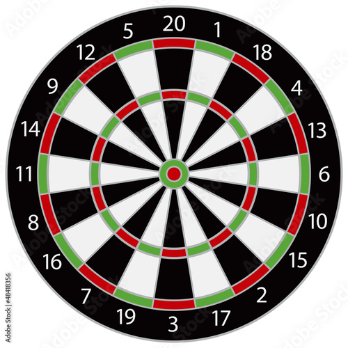 Dartboard Illustration - 48418356