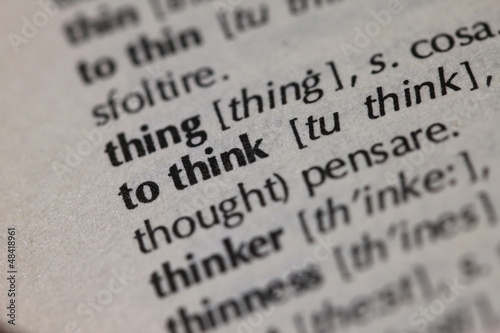 Dictionary Series - Think
