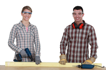 A motivated and enthusiastic group of tradespeople