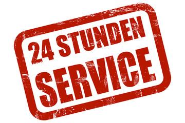 Grunge Stempel rot 24 STUNDEN SERVICE