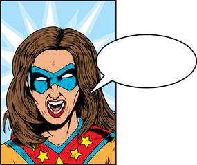 Yelling Superhero