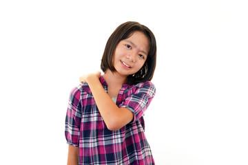 肩の痛みを訴える女の子