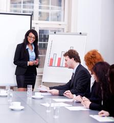 Geschäftsleute bei einer Presentation in einem Konferenz