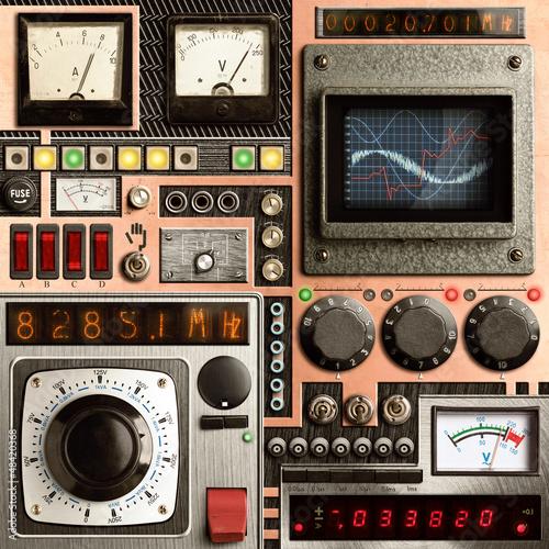 Leinwanddruck Bild Vinatge control panel
