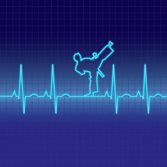 EKG martial arts heartbeat pattern