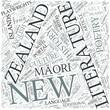 New Zealand literature Disciplines Concept