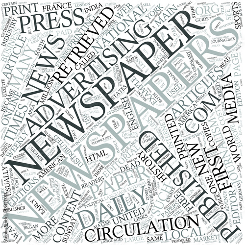 Newspaper Disciplines Concept