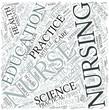 Nursing education Disciplines Concept