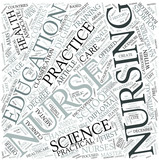 Nursing education Disciplines Concept
