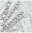 Operations research Disciplines Concept