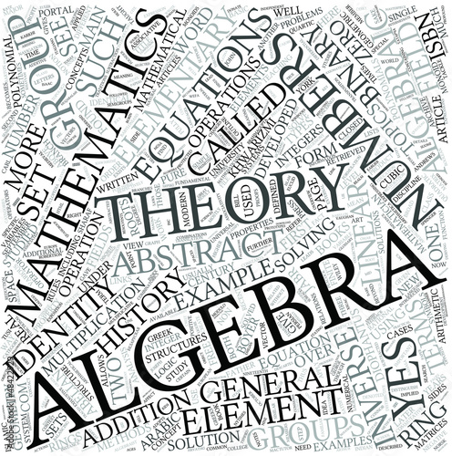 Algebra Disciplines Concept