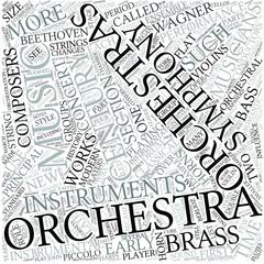 Orchestra Disciplines Concept