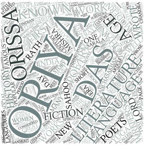 Oriya literature Disciplines Concept