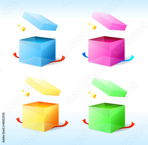 Vector box with stars