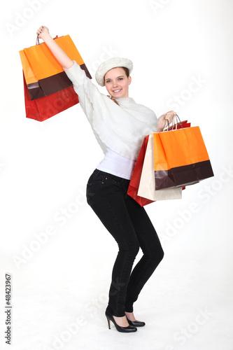 ecstatic shopaholic