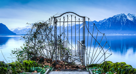 Gate to Lake Geneva