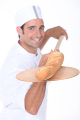 baker baking bread