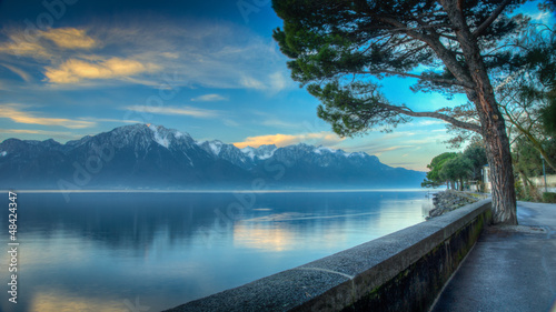 Lake Geneva Morning HDR