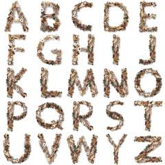 alfabeto meccanico collage