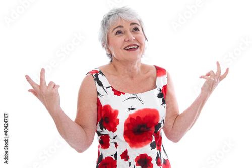 Ältere Dame mit fragendem Blick