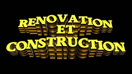 renovation et construction