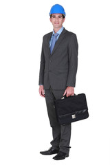 Architect with briefcase