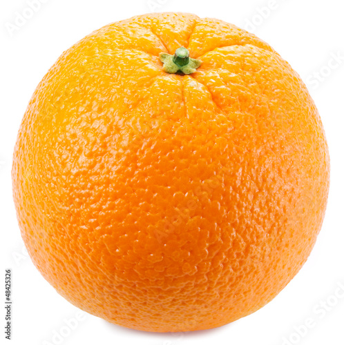 Orange on a white background.