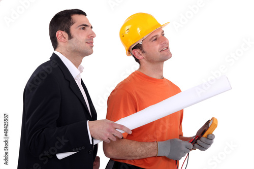 An architect and an electrician.