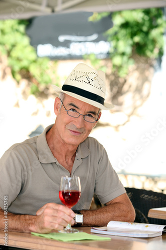 Man enjoying retired life