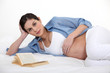 Pregnant woman reading