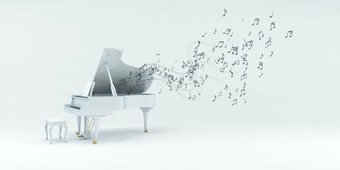 Piano mit Noten, Musik, Sound