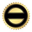Zertifikat gold-schwarz