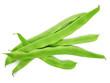 Flache grüne Bohnen