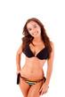 Beautiful young woman dressing bikini