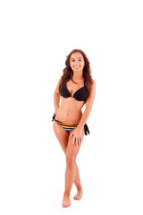 Beautiful young woman dressing bikini