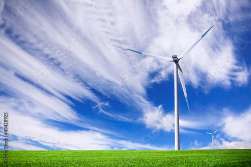 Turbine on green field